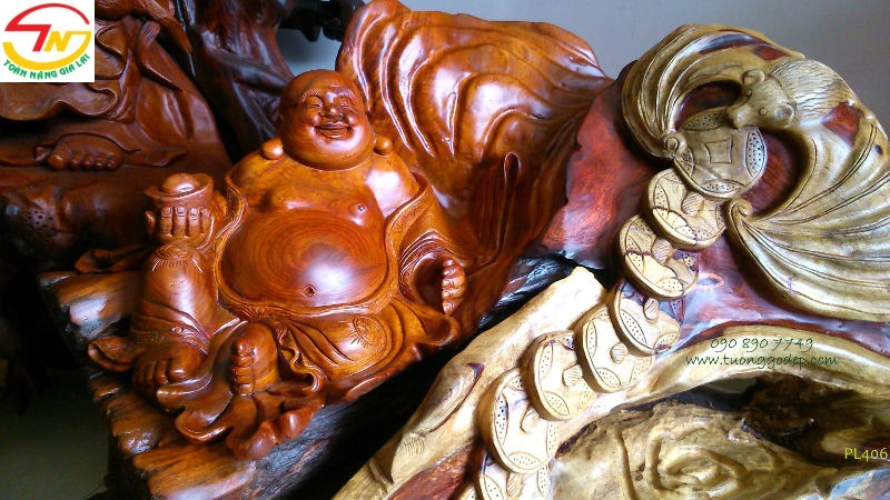Phật Di Lặc chúc Phúc, gỗ hương