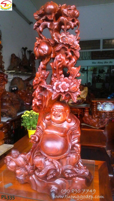 Phật Di Lặc đứng gốc Đào & nhất phúc