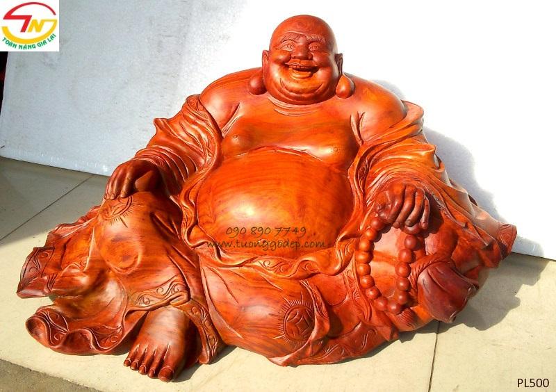 Tượng Phật Di Lặc bằng gỗ hương