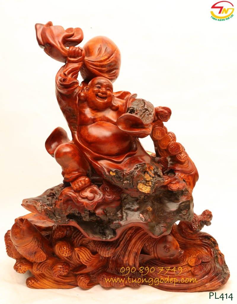Phật Di Lặc đằng vân & cá chép