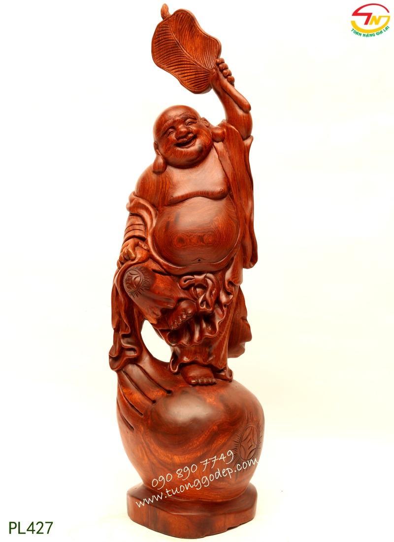 Phật Di Lặc Cầm Quạt Ba Tiêu