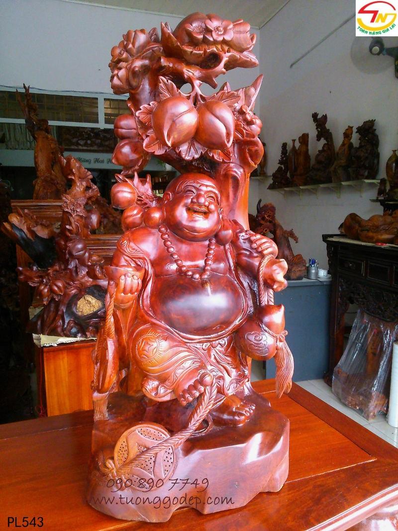 Phật Di Lặc Đứng cây Đào