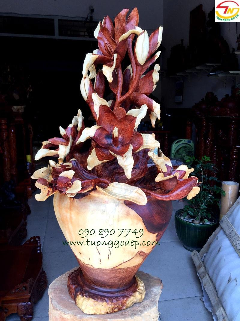 Bình hoa gỗ