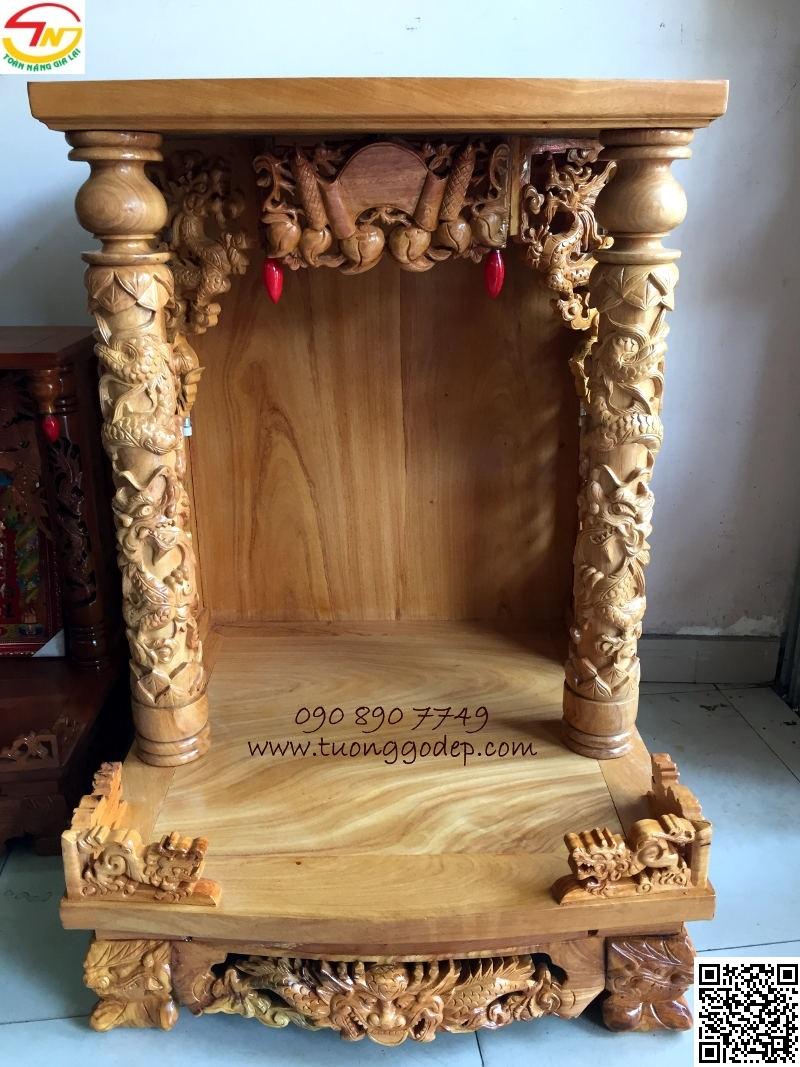 Bàn thờ Thần Tài Ông Địa bằng gỗ