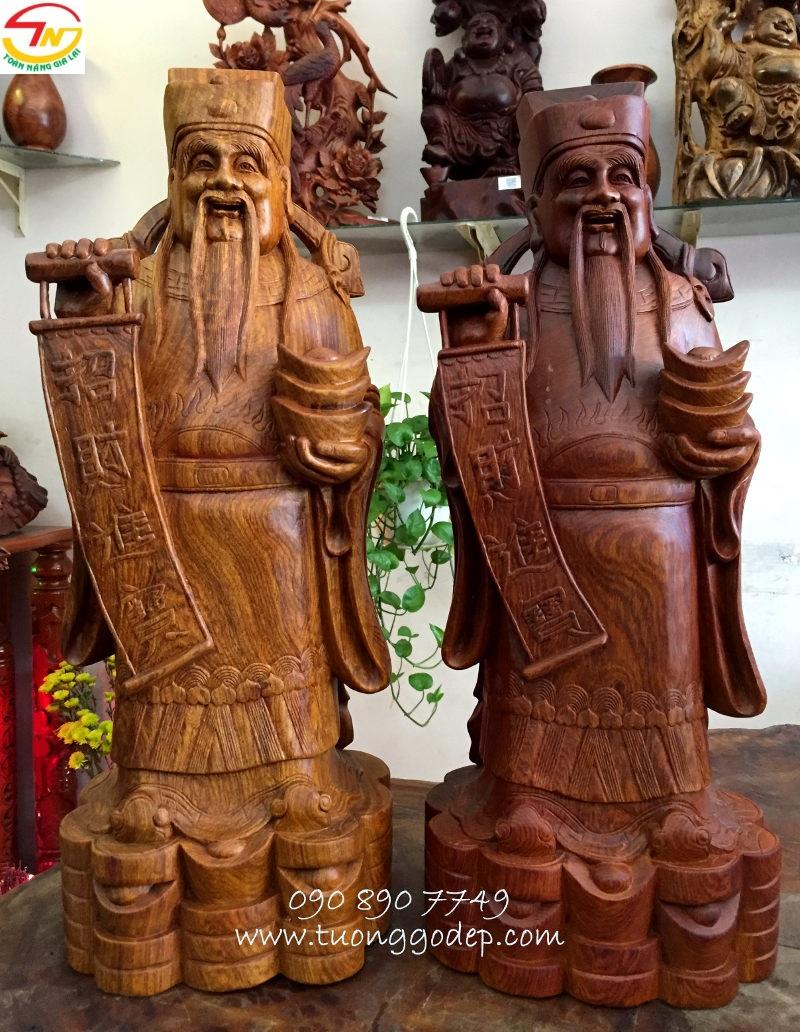 Tượng Thần tài bằng gỗ