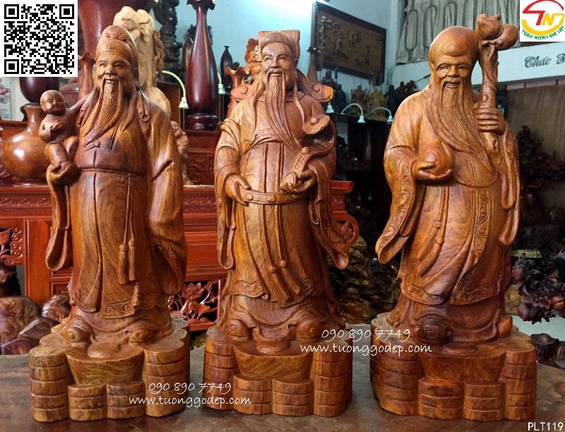 Cách trưng bày tượng ba vị thần Phúc, Lộc, Thọ
