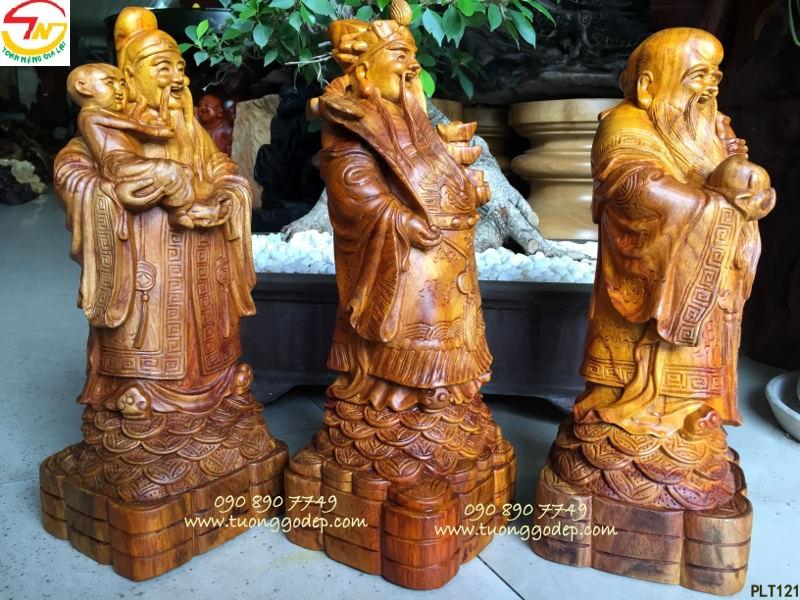 Tượng Phúc Lộc Thọ bằng gỗ hương