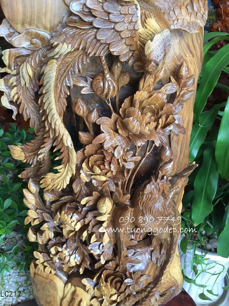 Chim Phượng Hoàng bằng gỗ hương