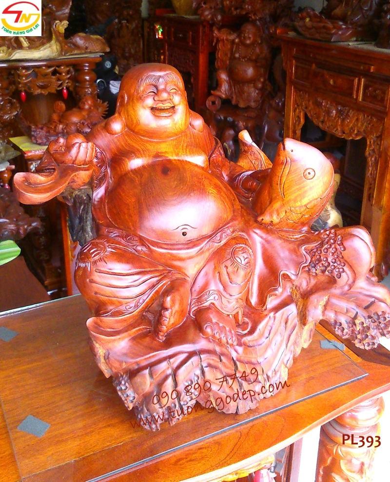 Phật Di Lặc cá chép