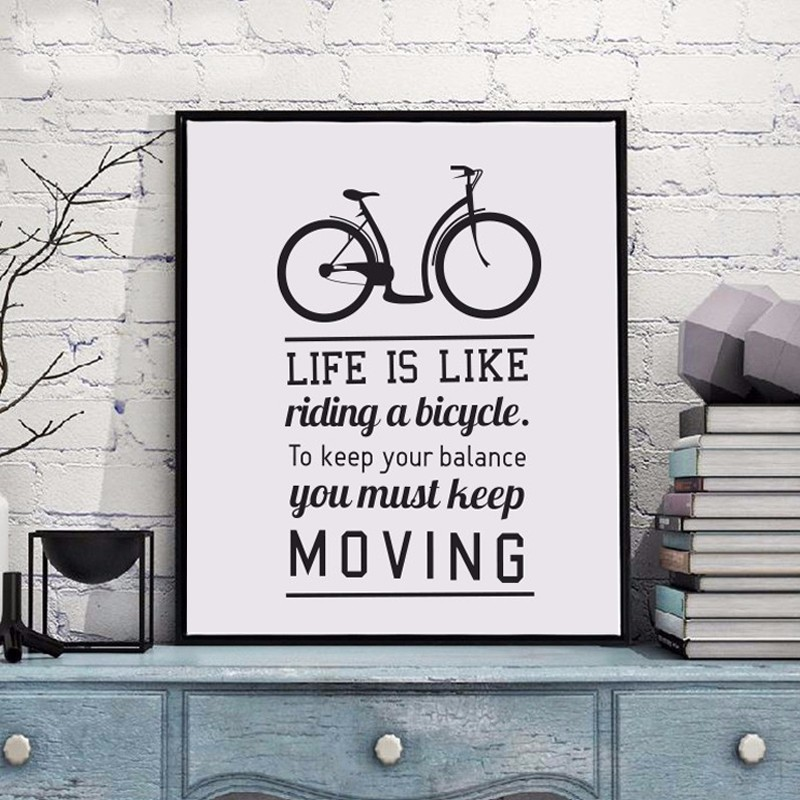 TRANH_CANVAS_LIFE_IS_LIKE_RIDING_A_BICYCLE