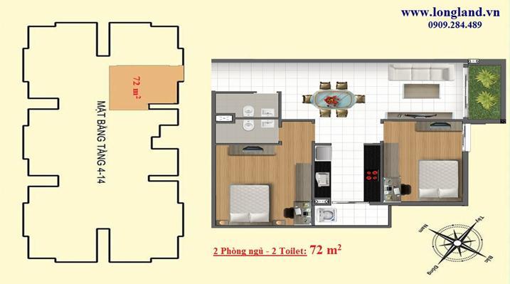 Vị trí - Thiết kế căn hộ 72m2 dự án Emerald Thủ Đức - Metro số 11