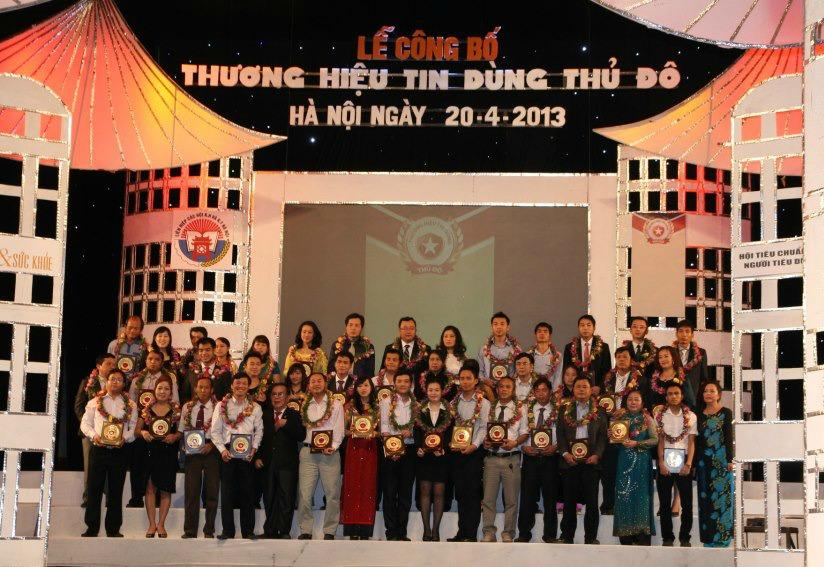 Lễ trao giải Thương Hiệu Tin Dùng Thủ Đô 2013