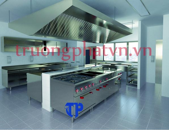 Bếp âu 6 họng có lò nướng trong các nhà hàng cao cấp