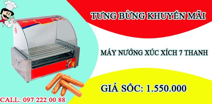 máy nướng xúc xích 7 thanh giá rẻ tại hà nội
