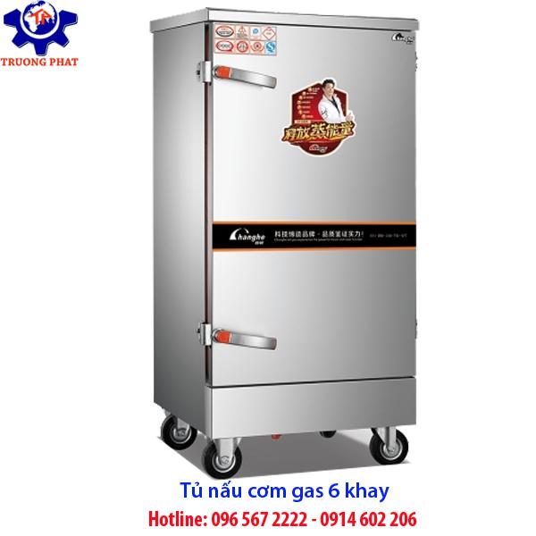tủ nấu cơm 6 khay gas
