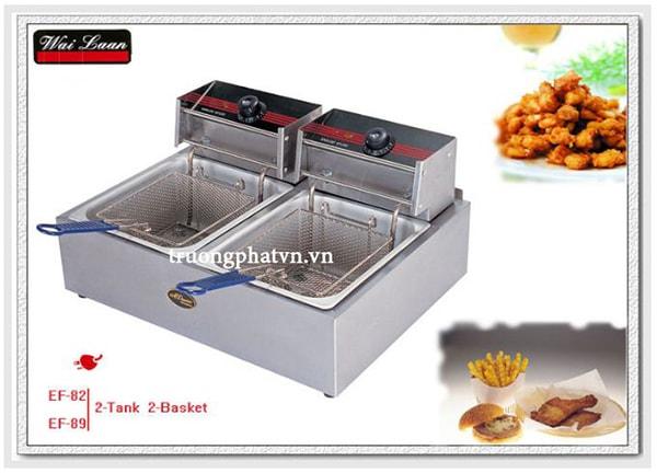 Bếp chiên điện được thiết kế với loại bếp đơn hoặc bếp đôi, phù hợp với nhu cầu sử dụng của mọi người