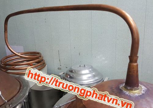 ống ruột ga bằng đồng đẫn rượu bay hơi