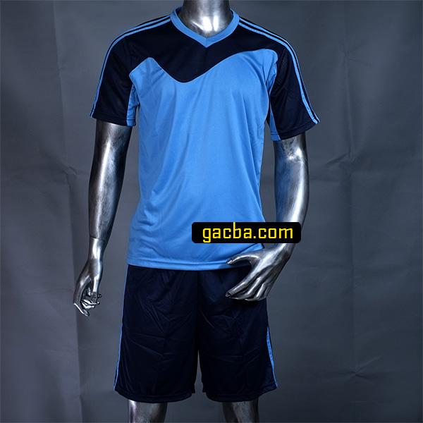 Quần áo bóng đá không logo 3468 xanh cô ban