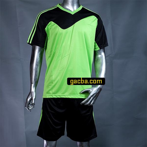 Quần áo bóng đá không logo 3468 xanh cốm