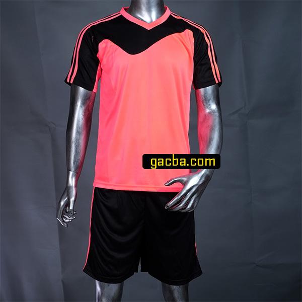 Quần áo bóng đá không logo 3468 hồng