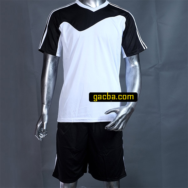 Quần áo bóng đá không logo 3468 trắng