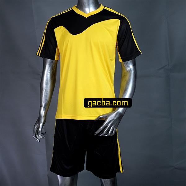 Quần áo bóng đá không logo 3468 vàng