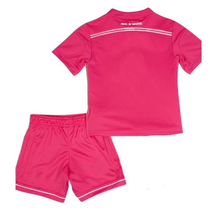 Quần áo bóng đá trẻ em Real hồng 2014 mặt sau