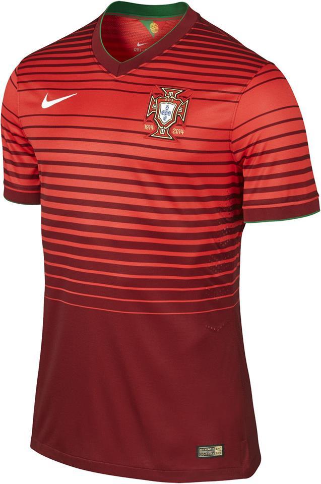 Quần áo bóng đá Bồ Đào Nha đỏ sân nhà 2014