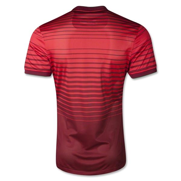 Quần áo bóng đá Bồ Đào Nha đỏ sân nhà mặt sau 2014