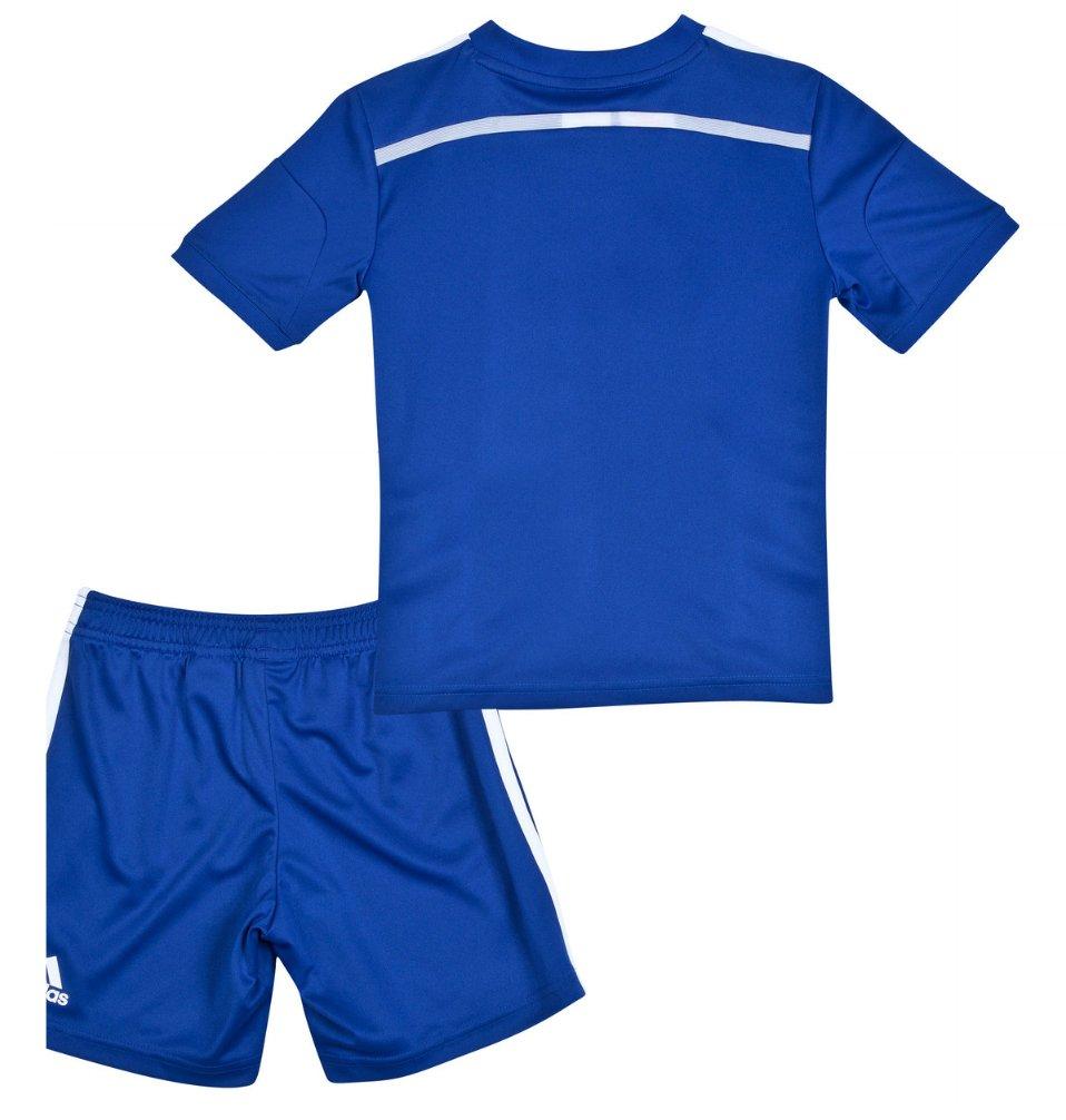 Quần áo bóng đá trẻ em Chelsea xanh 2014 mặt sau