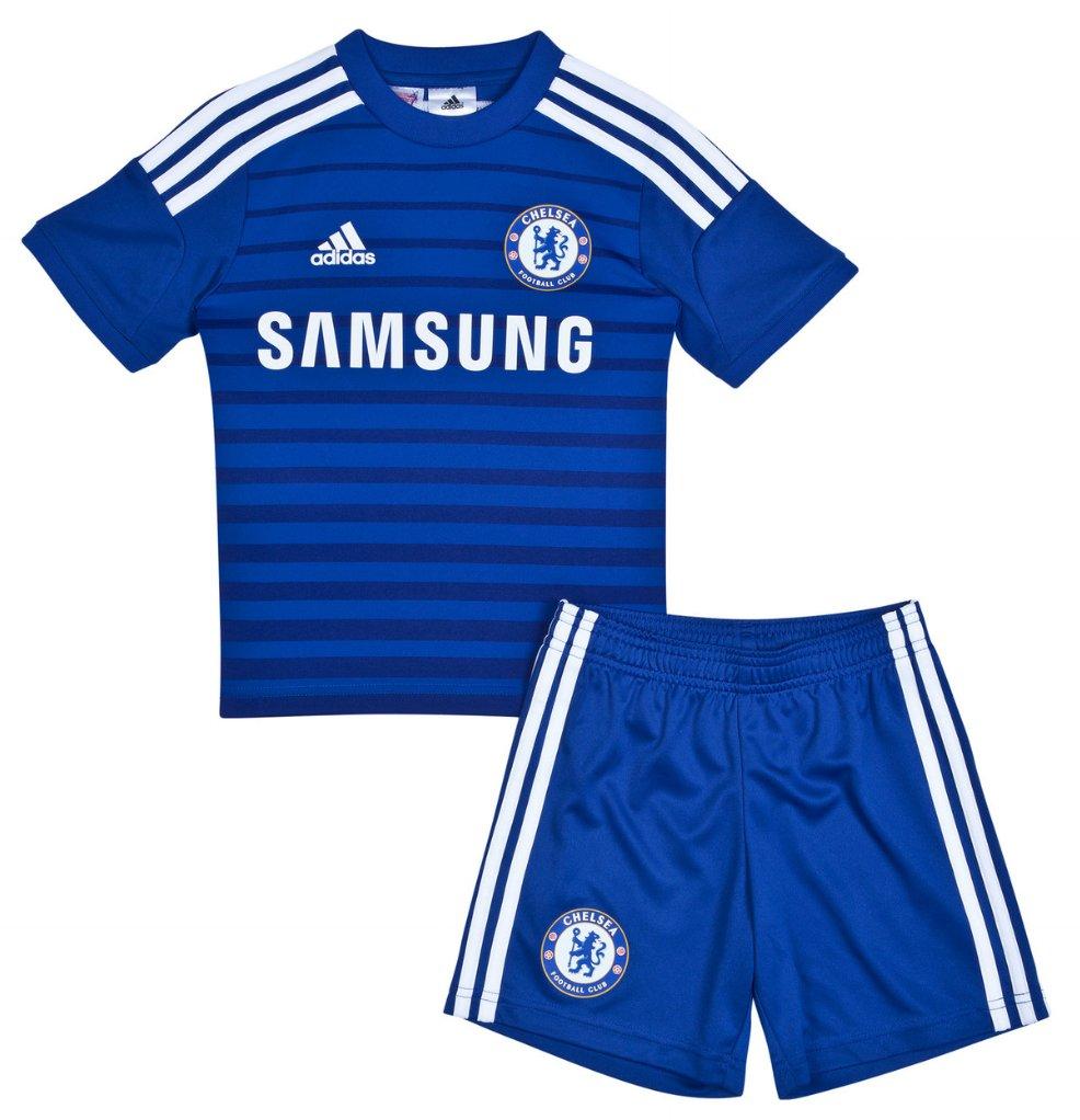 Quần áo bóng đá trẻ em Chelsea xanh 2014