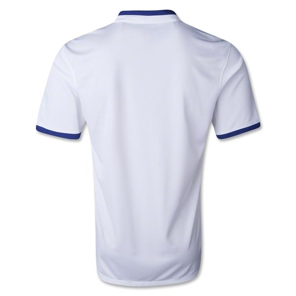 Quần áo bóng đá Bồ Đào Nha trắng sân khách 2014 mặt sau