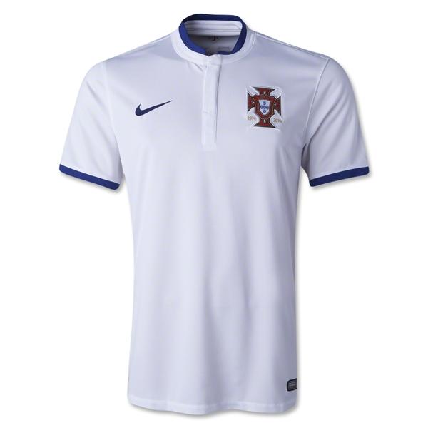Quần áo bóng đá Bồ Đào Nha trắng trắng 2014