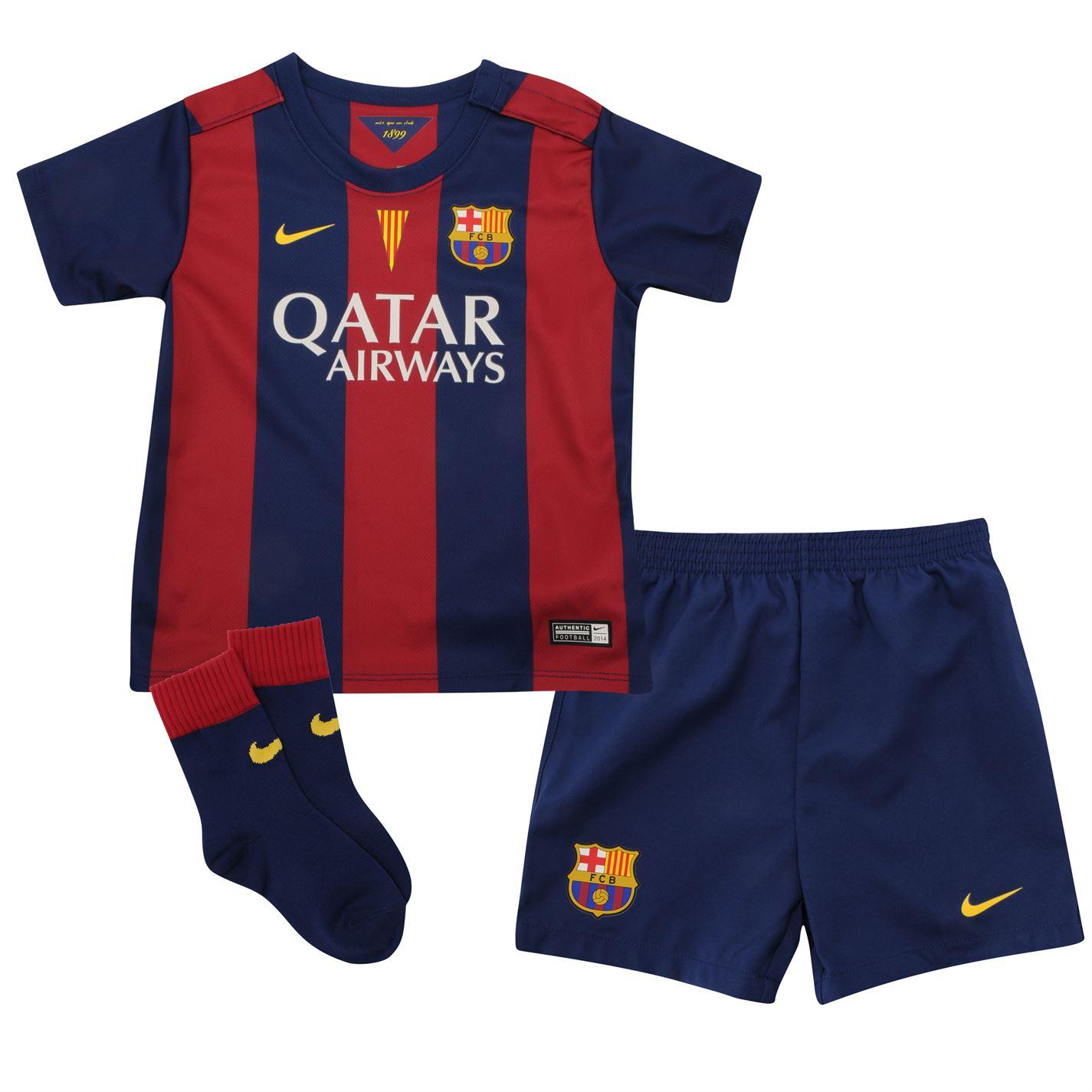 Quần áo bóng đá trẻ em Barca sân nhà 2014