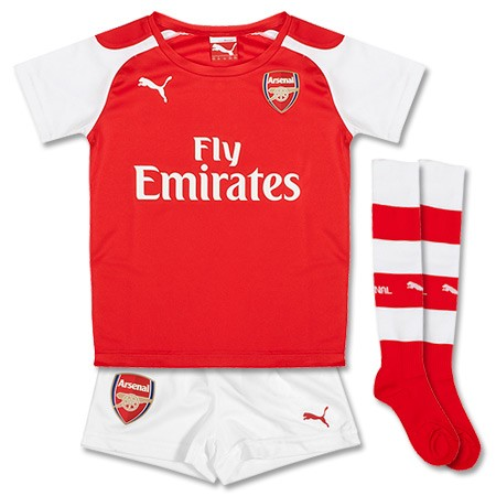 Quần áo bóng đá trẻ em Arsenal đỏ 2014