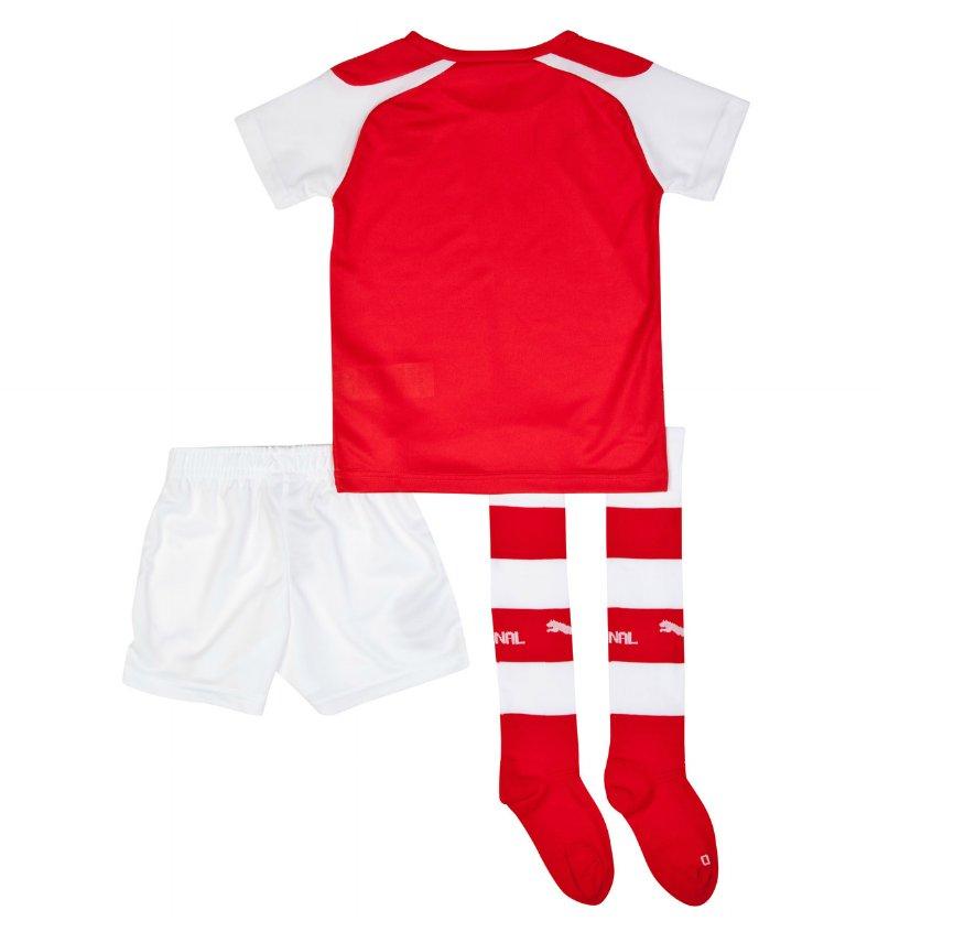 Quần áo bóng đá trẻ em Arsenal đỏ 2014 mặt sau