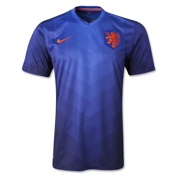 Quần áo bóng đá Hà Lan xanh sân khách WC 2014