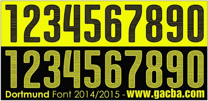 bộ font chữ số Dortmund 2015