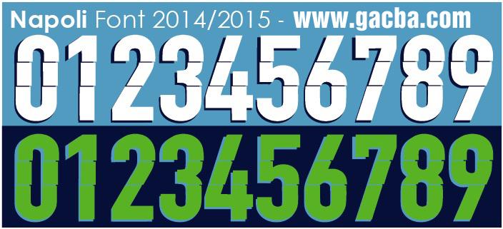 bộ font chữ số Napoli 2015