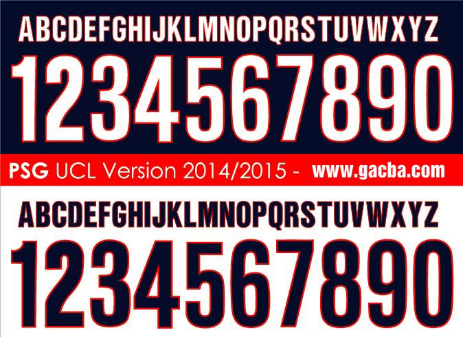 bộ font chữ số PSG 2015