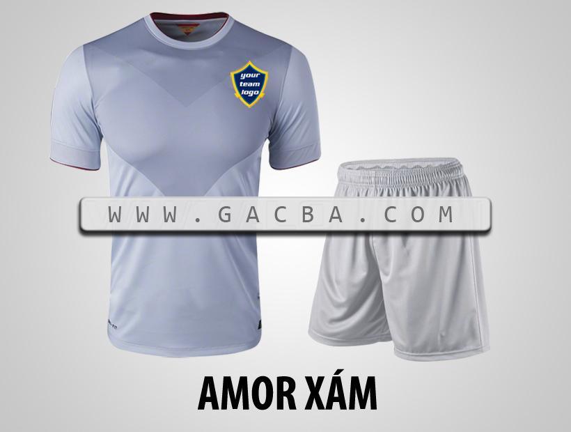 Quần áo bóng đá không logo Armor xám