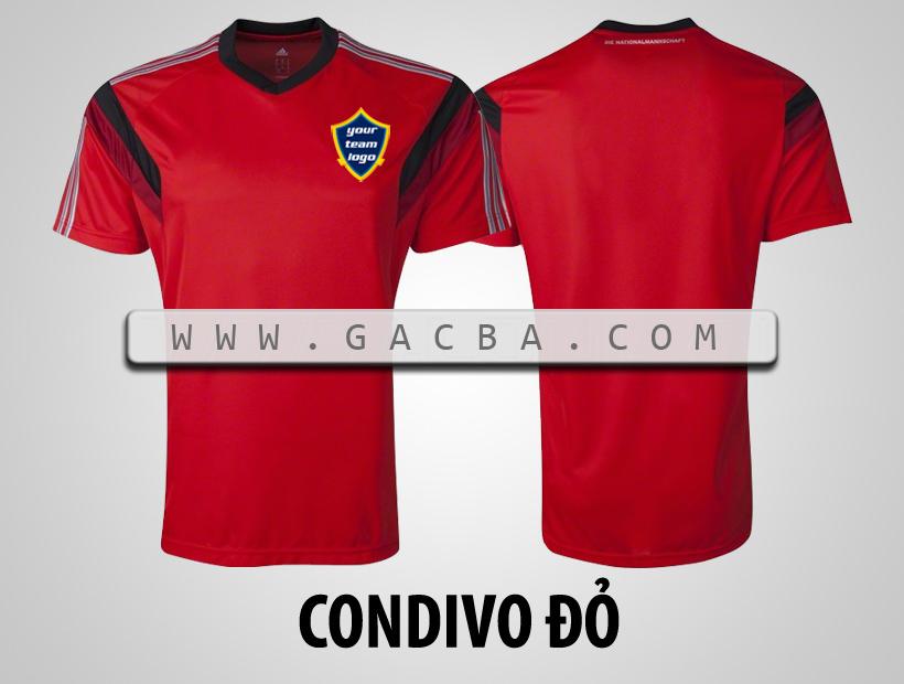áo bóng đá không logo Condivo đỏ