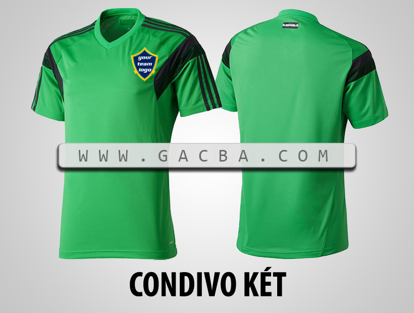 áo bóng đá không logo Condivo xanh lá