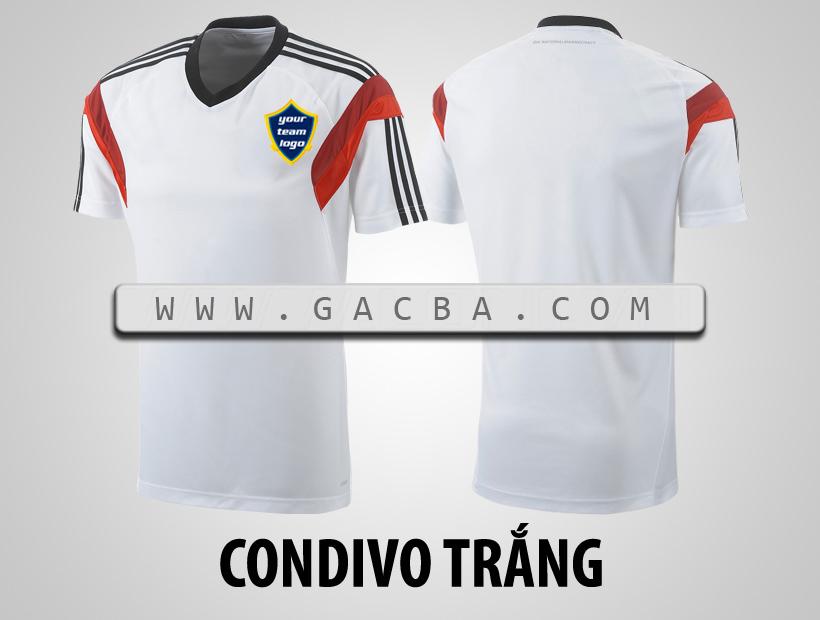 áo bóng đá không logo Condivo trắng