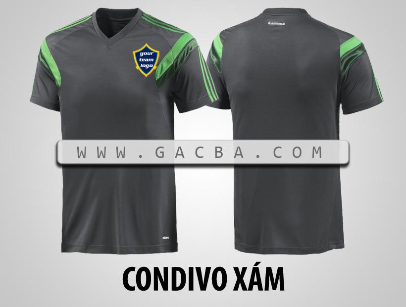 áo bóng đá không logo Condivo xám