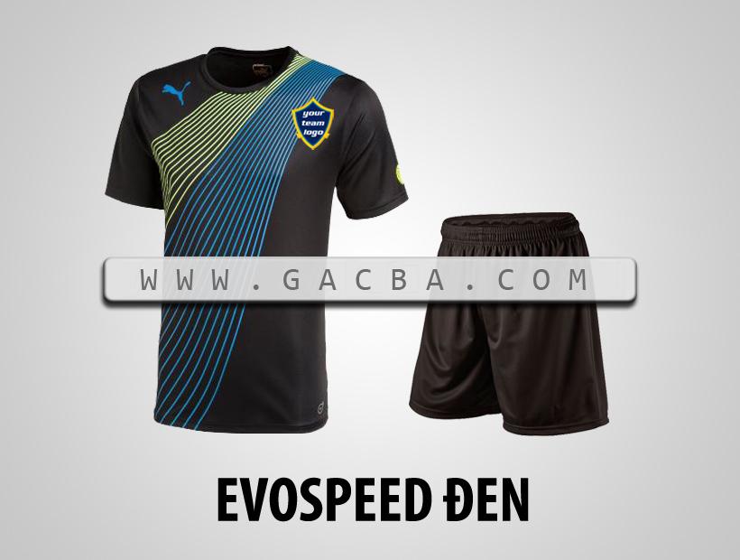 áo bóng đá không logo Puma Speed đen