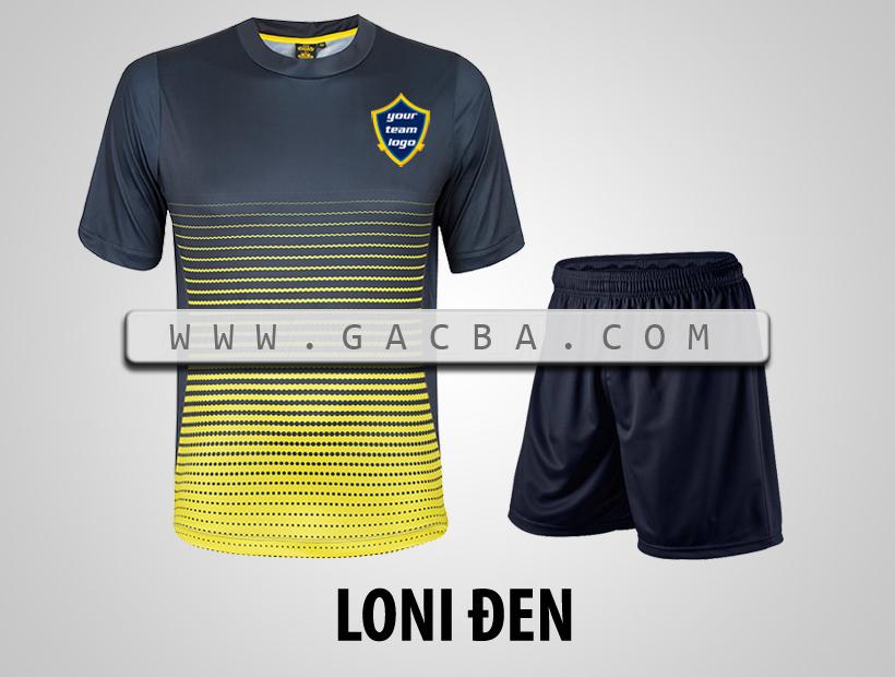 áo bóng đá không logo GACBA đen