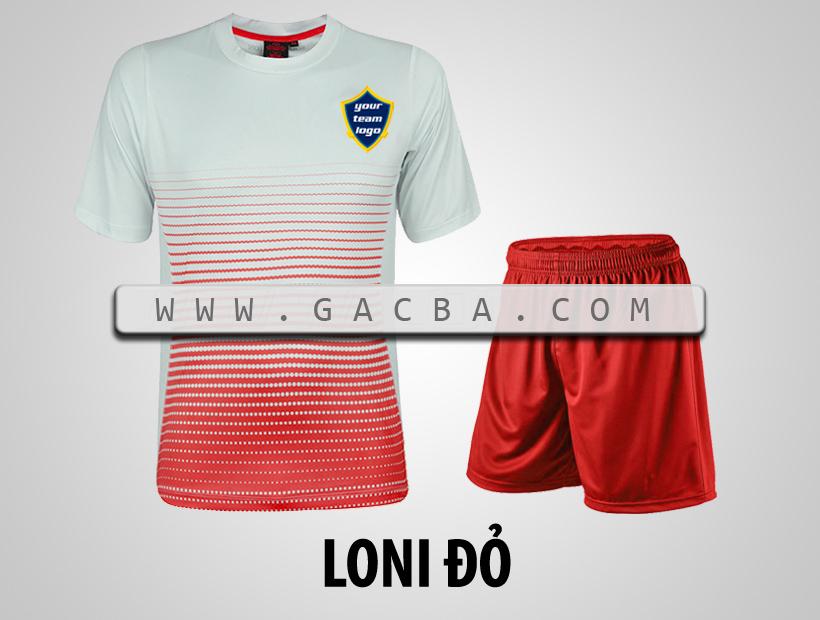 áo bóng đá không logo GACBA đỏ
