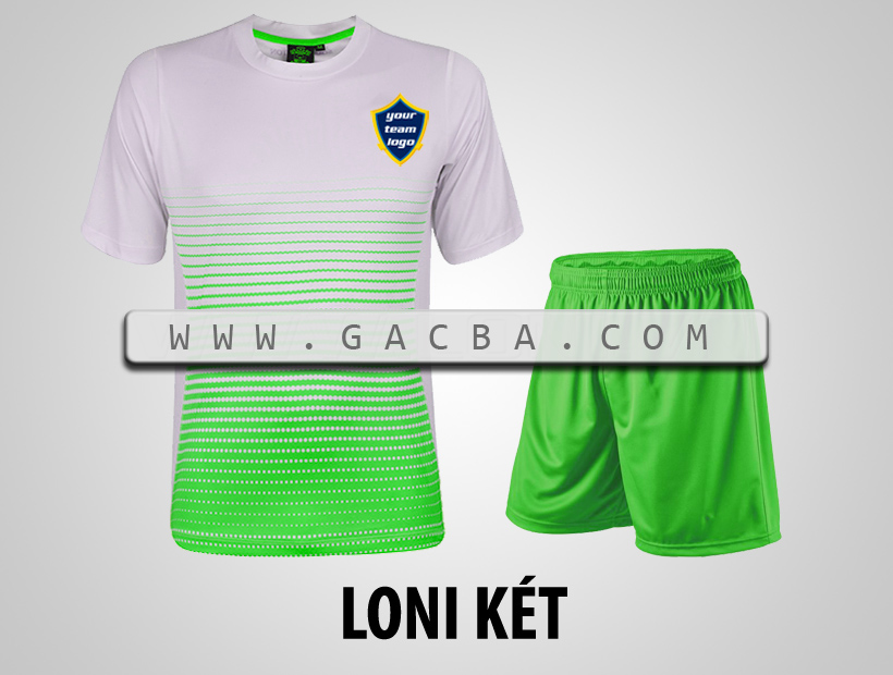 áo bóng đá không logo GACBA xanh lá