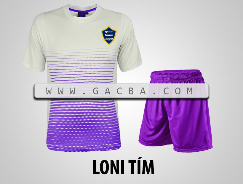 áo bóng đá không logo GACBA tím